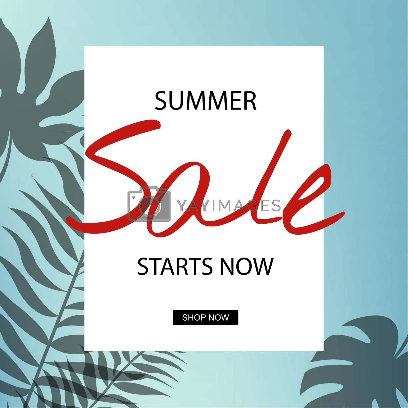 Summer Sale, Vector Illustration, With Gradient Mesh