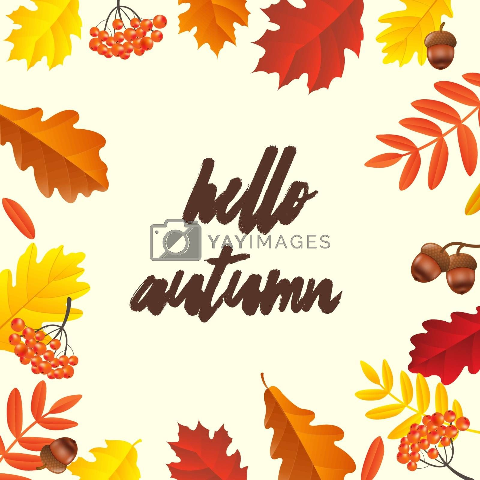 Autumn Poster, Vector Illustration, With Gradient Mesh