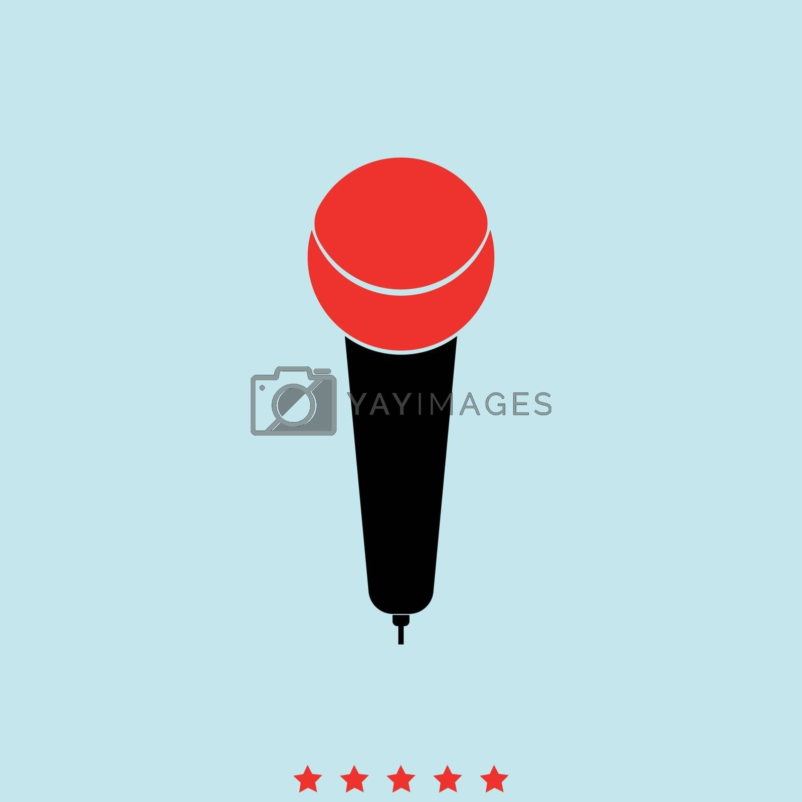 Microphone it is icon . Simple style .