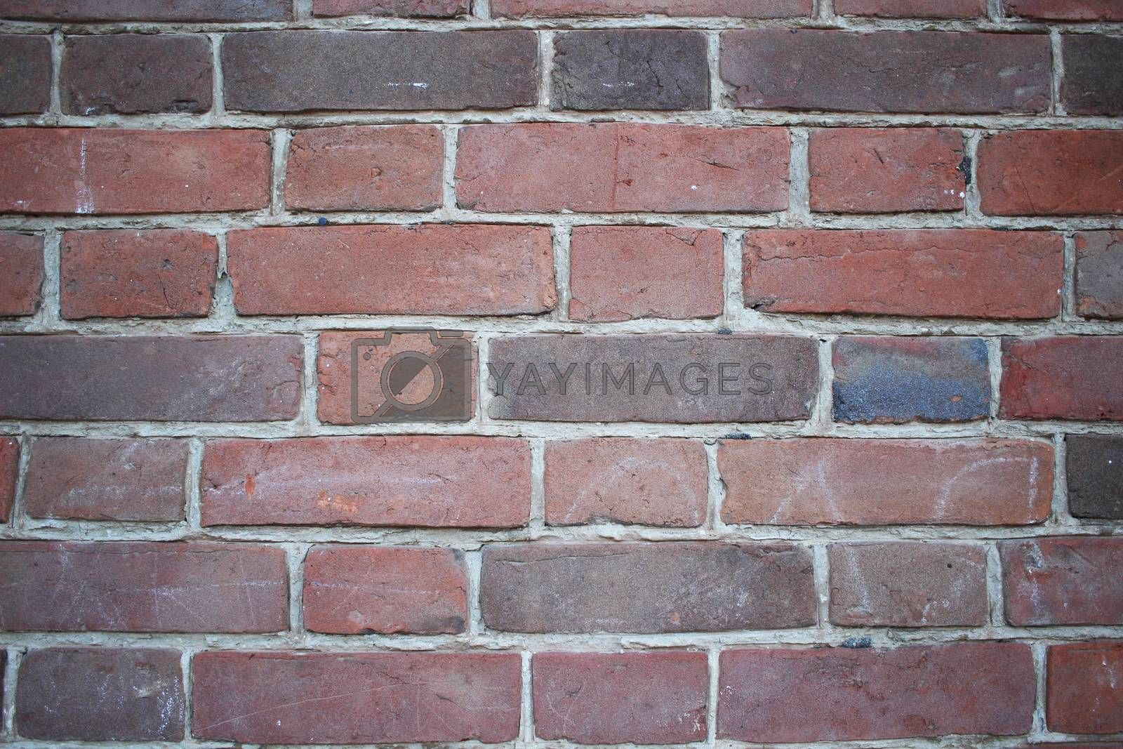 Texture abstract a old red Brick wall