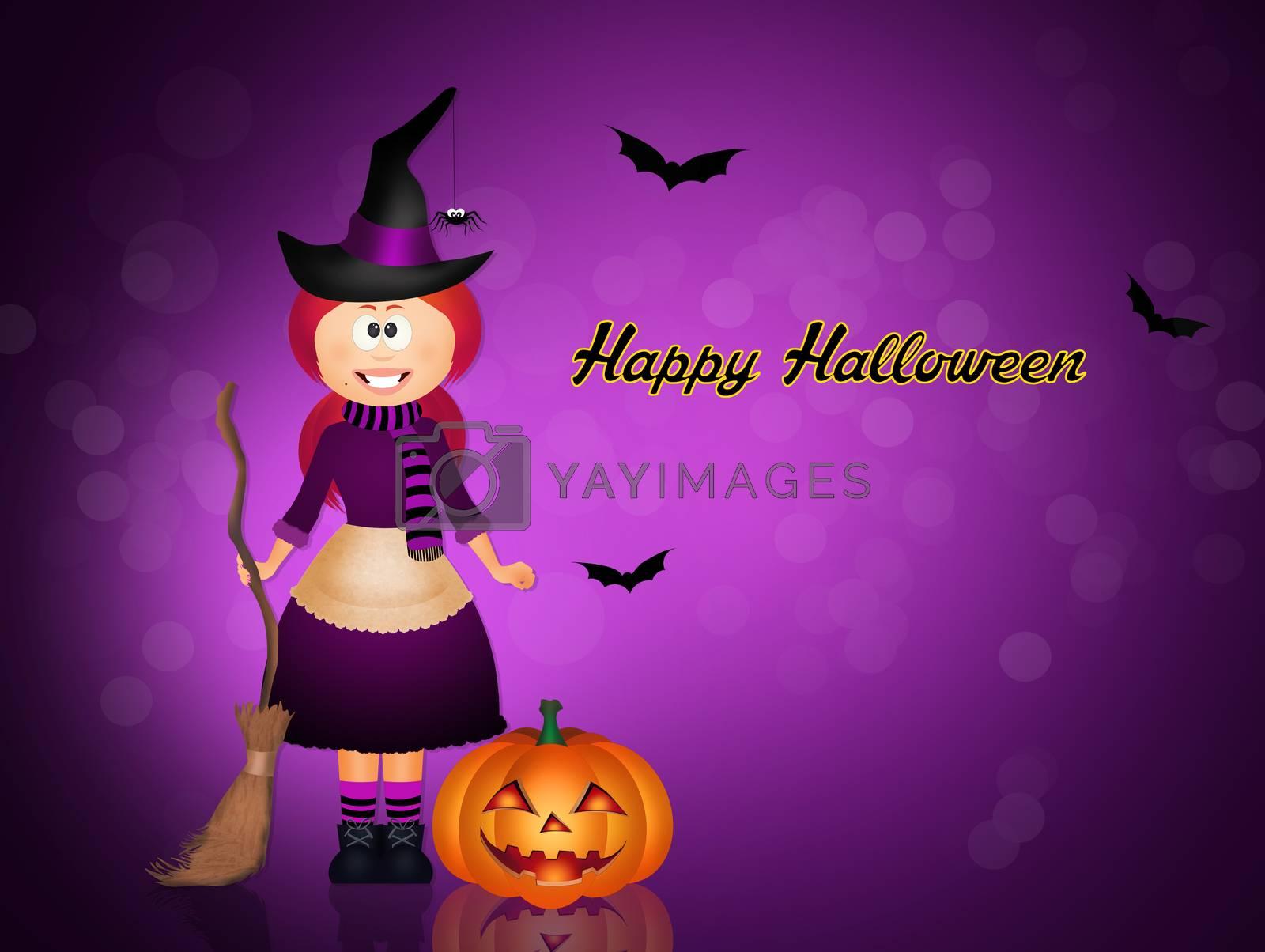 illustration of happy Halloween