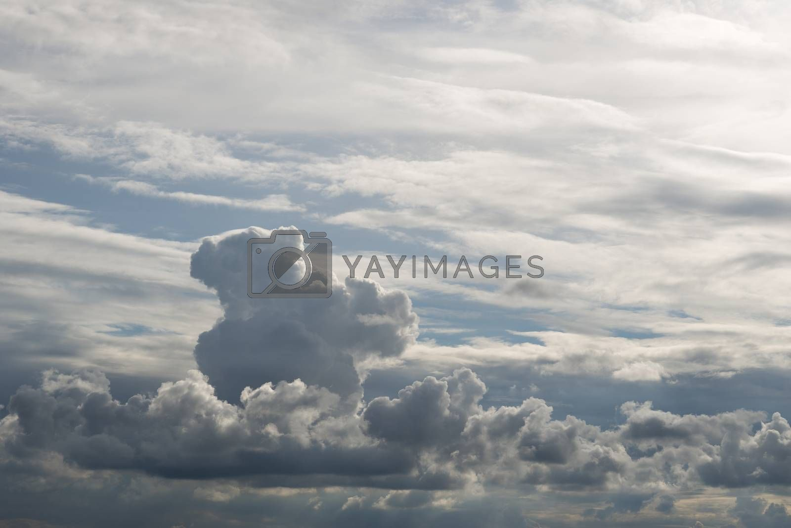 White clouds with blue skies in the summer as background picture