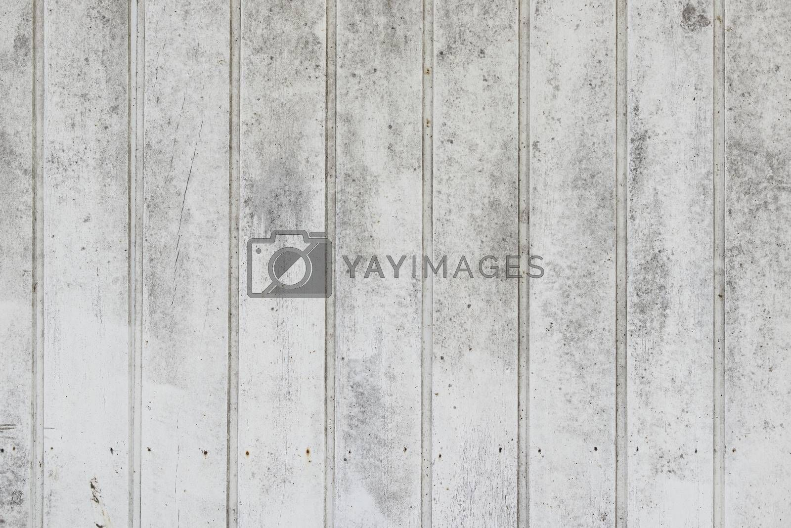Vertical weathered white painted timber as background picture