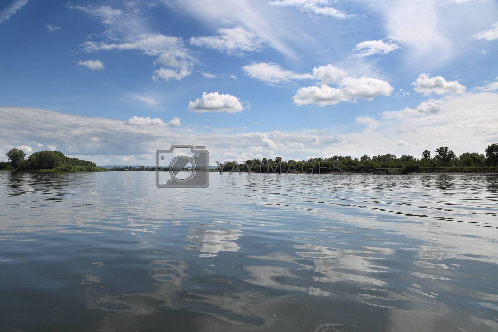 Tom River in western Siberia
