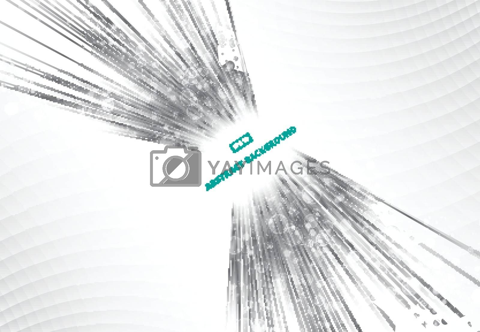 Perspective Abstract bright black and gray lights and lines background with sparkle and flare. Vector illustration