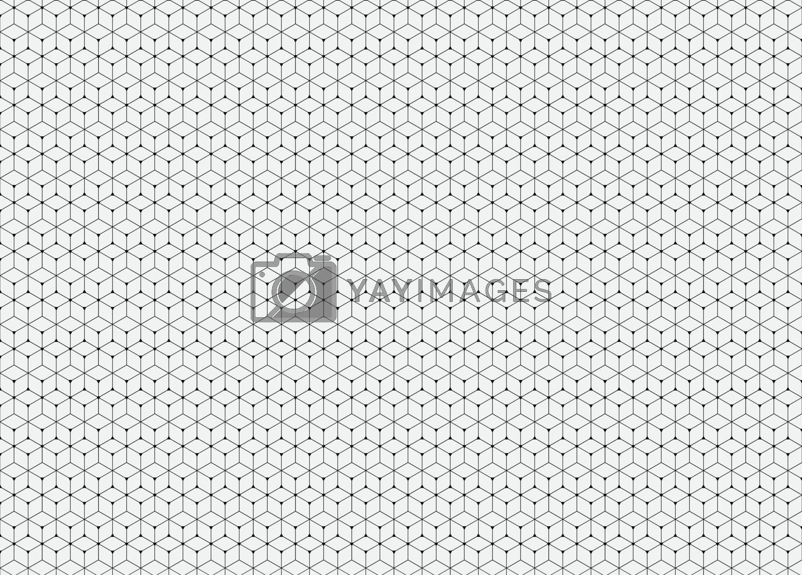 Abstract pattern. Hexagon repeating geometric background and filled triangles in nodes. Modern stylish texture.  Trendy hipster geometry. Vector illustration