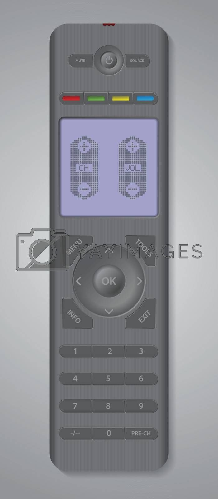Tv remote control design with digital touch display