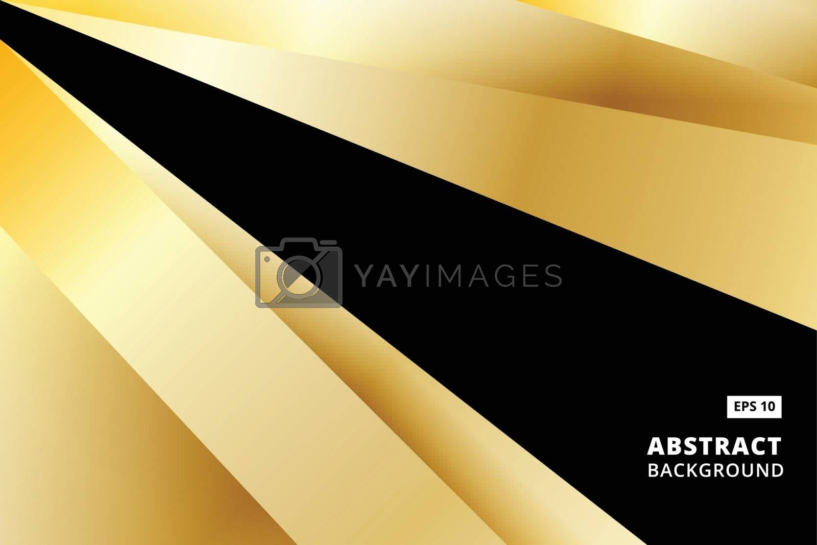Abstract striped graphic gold and black color background vector illustration