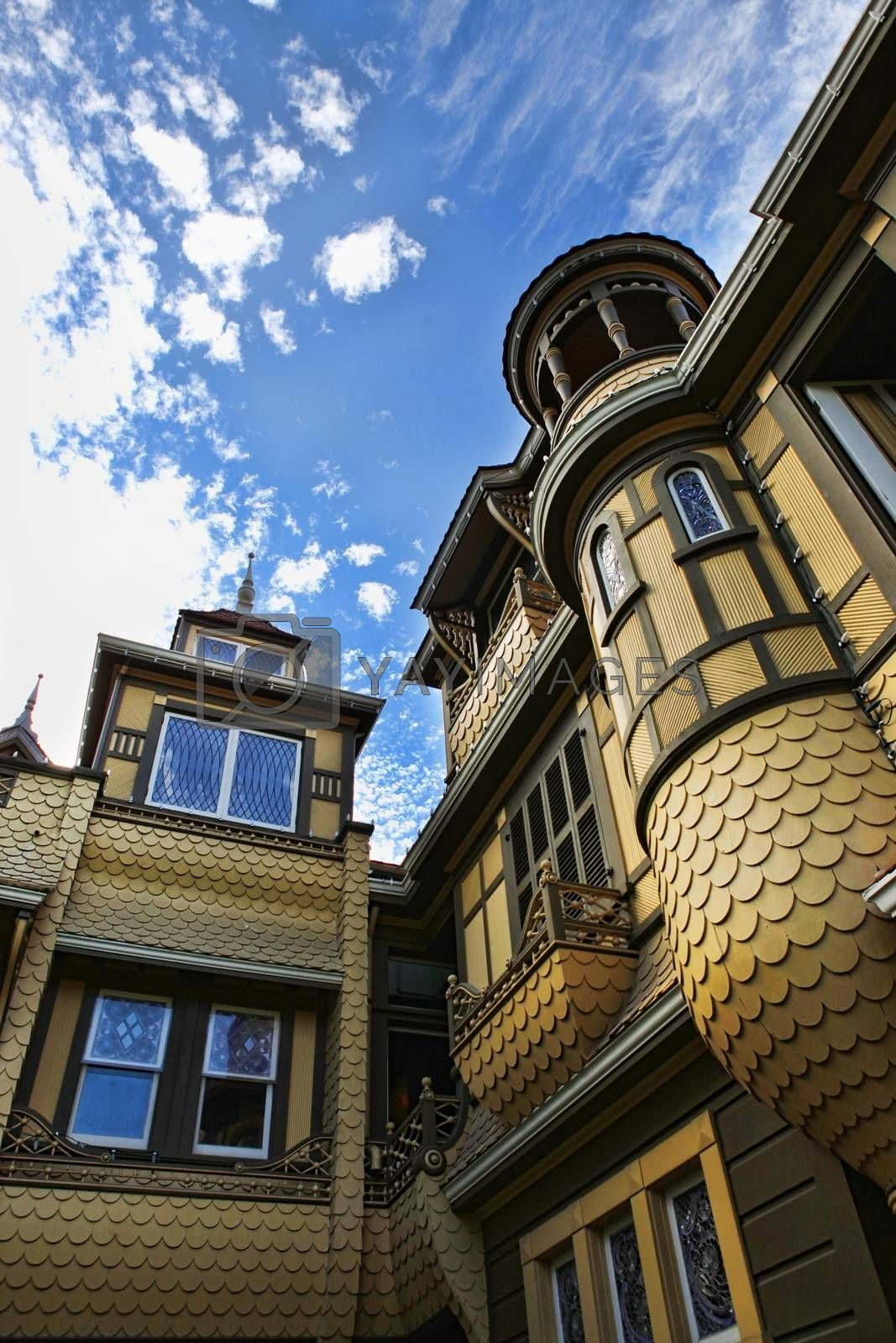 The Winchester Mystery House - the house number 525 on Winchester Boulevard in San Jose