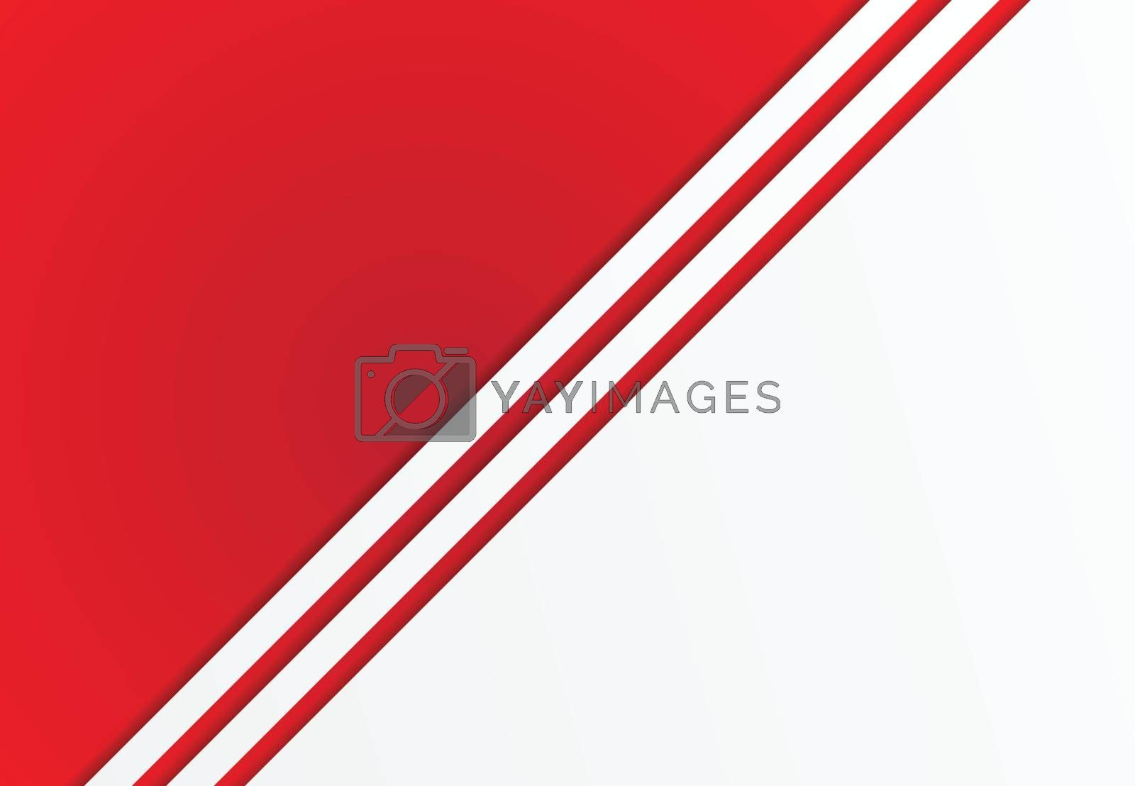Abstract background red with white lines diagonal copy space for print, ad, magazine, poster, brochure, leaflet, flyer, Vector illustration