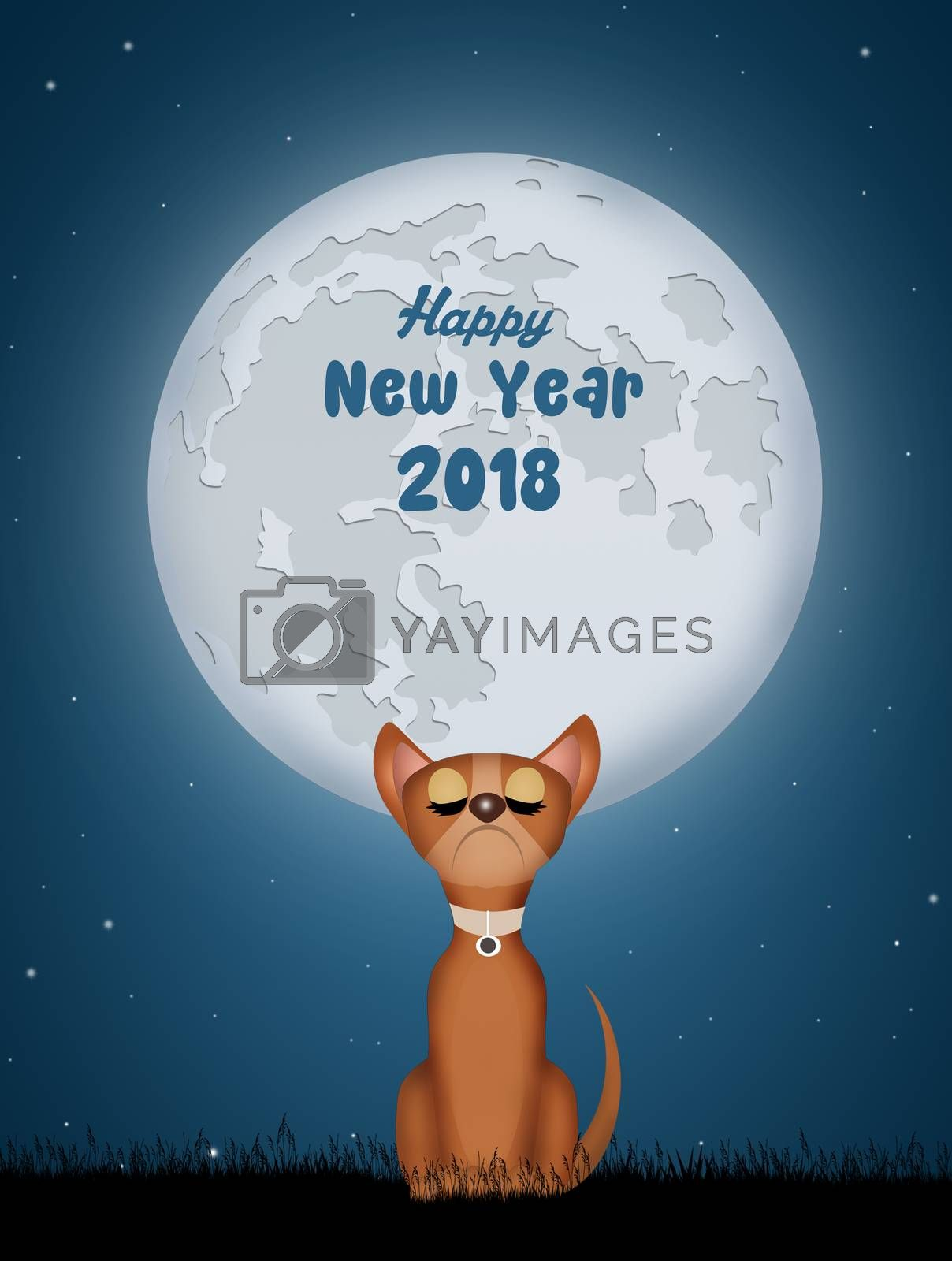 illustration of Chinese New year of the dog