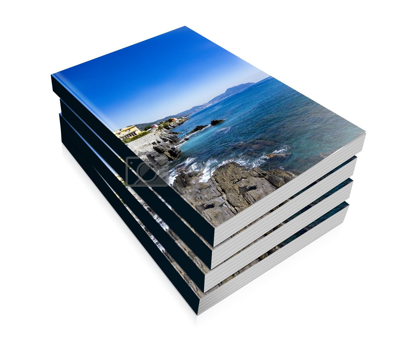 book of rocky coast of Nervi in Genoa  by carla720
