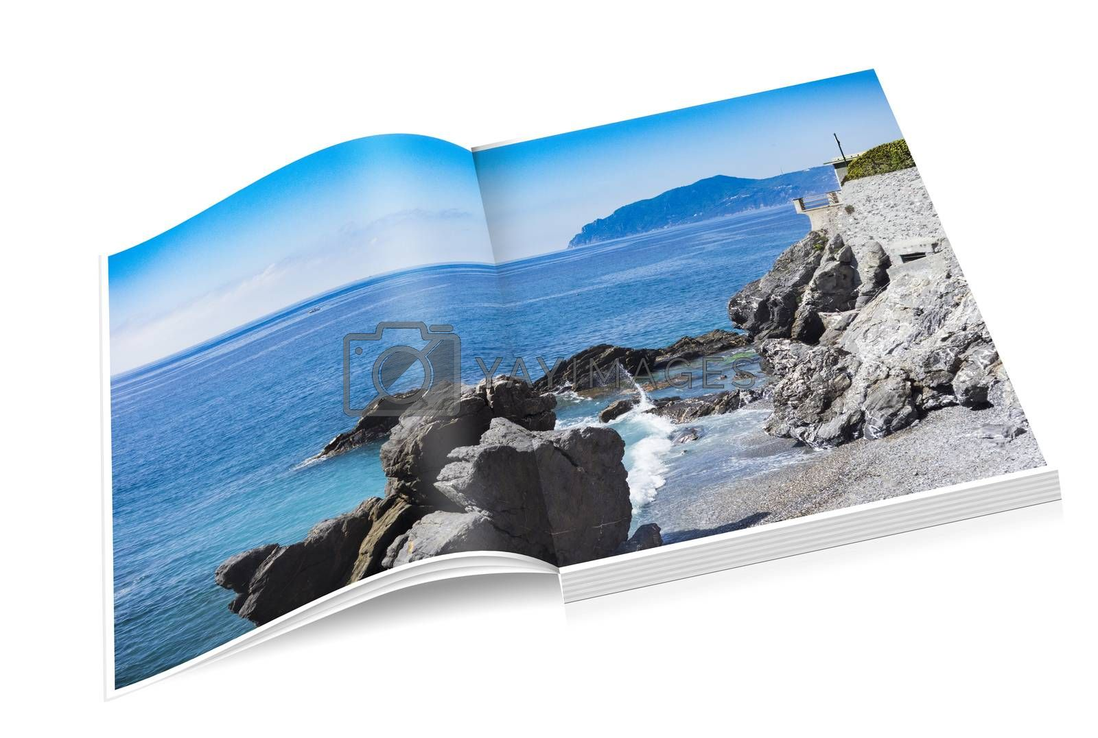Royalty free image of book of rocky coast of Nervi in Genoa. by carla720