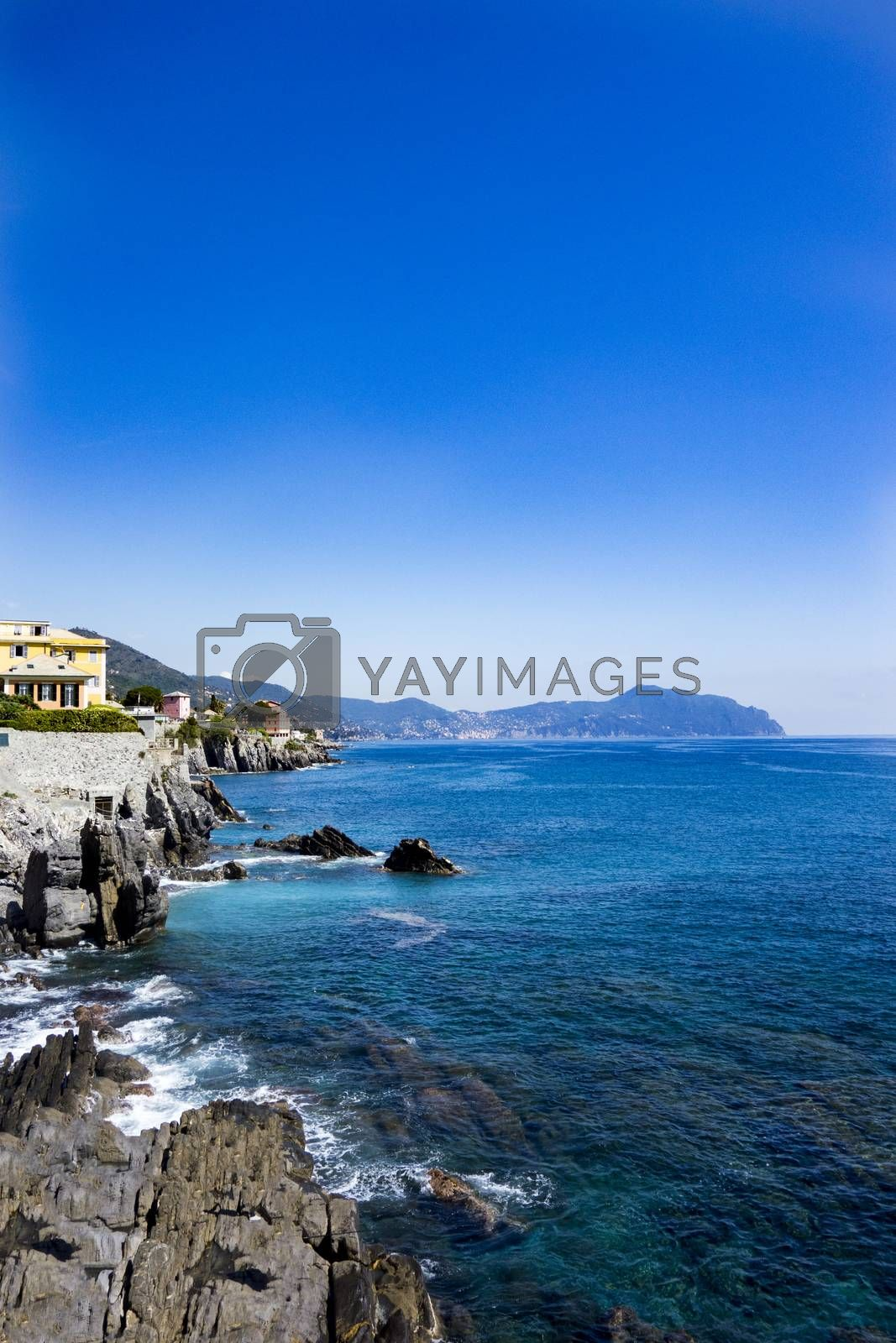 Royalty free image of rocky coast of Nervi in Genoa  by carla720