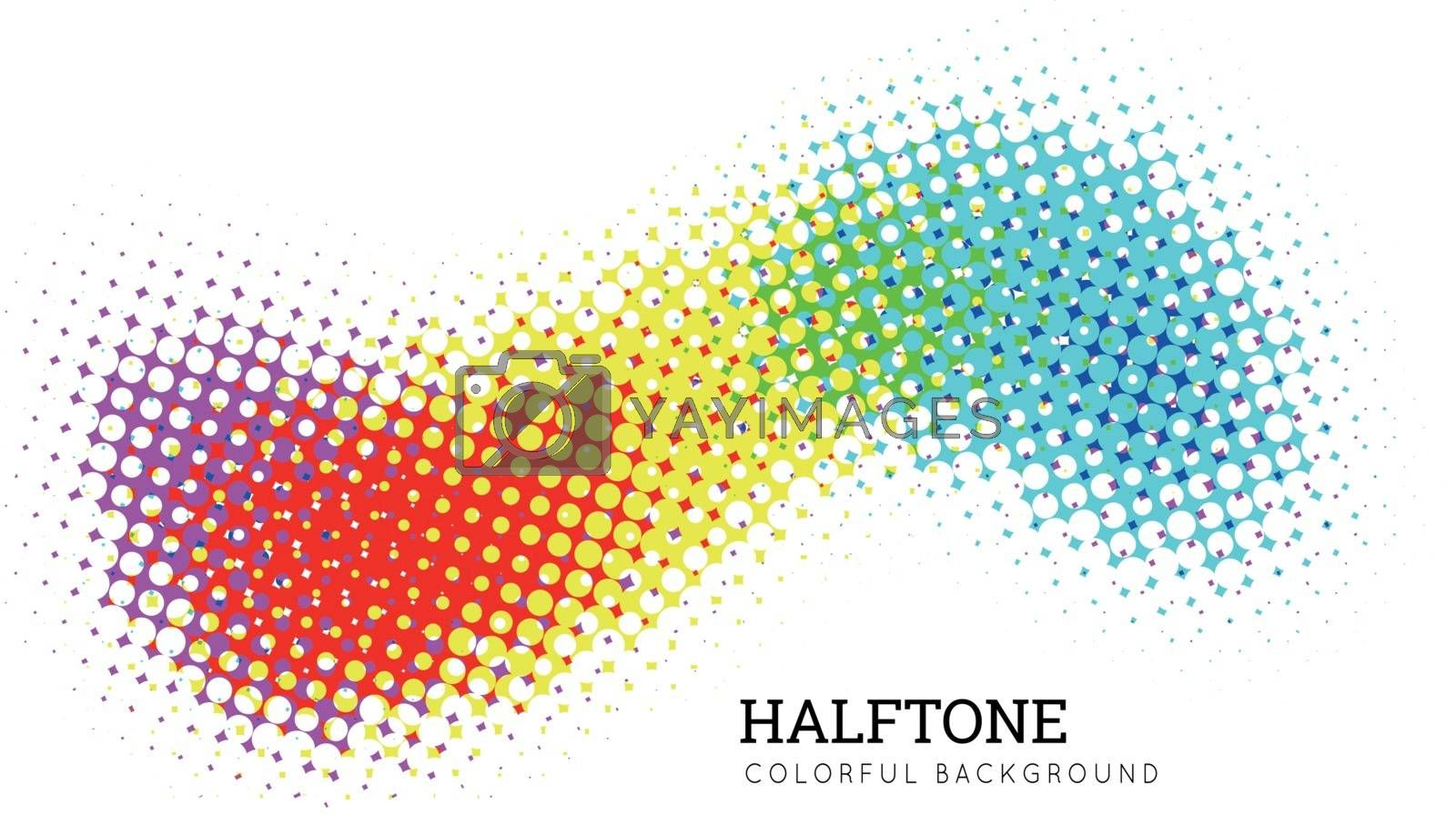 Abstract colorful halftone background. Spectrum wave. Vector illustration