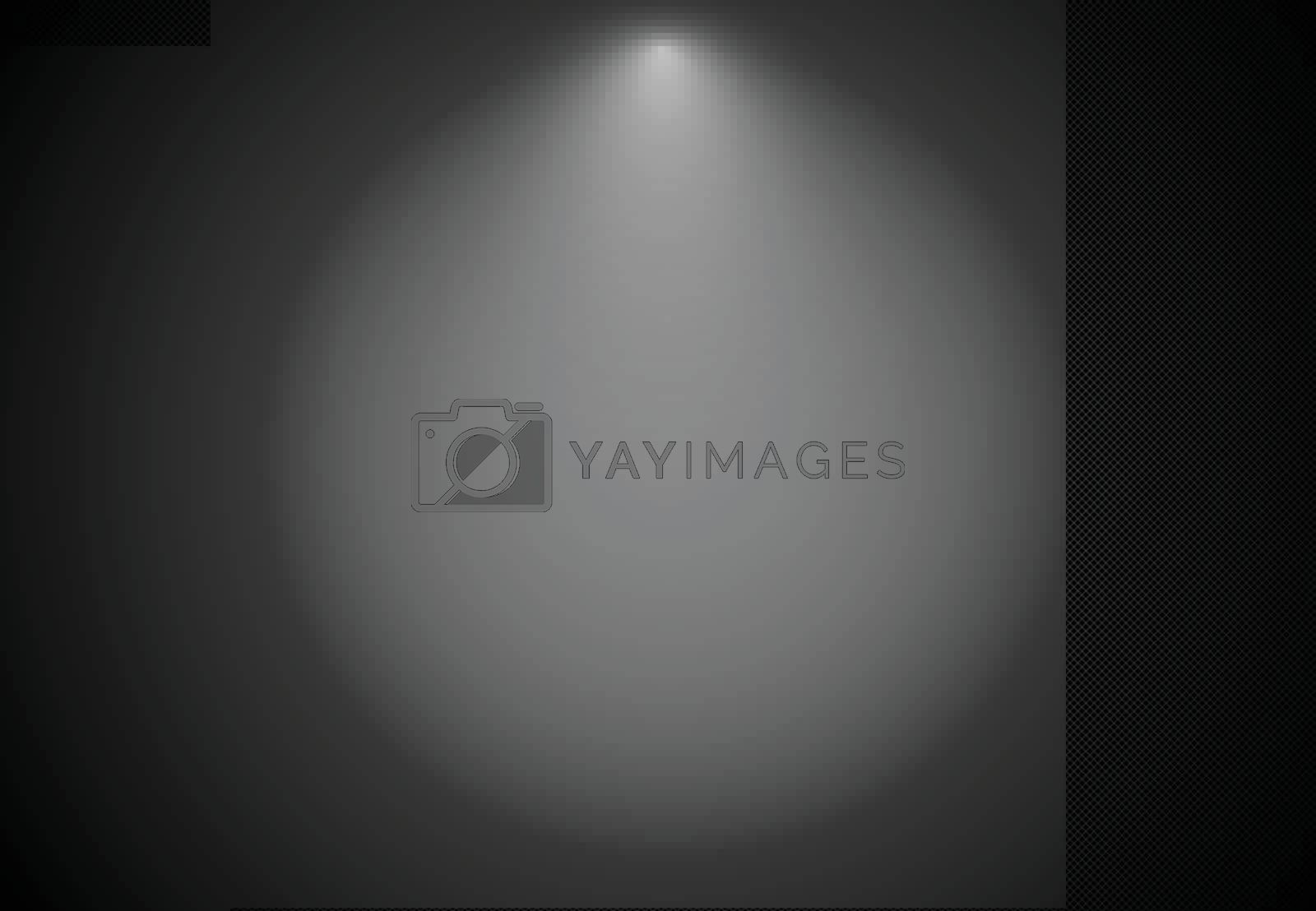 Abstract black striped background with spotlight, Vector illustration