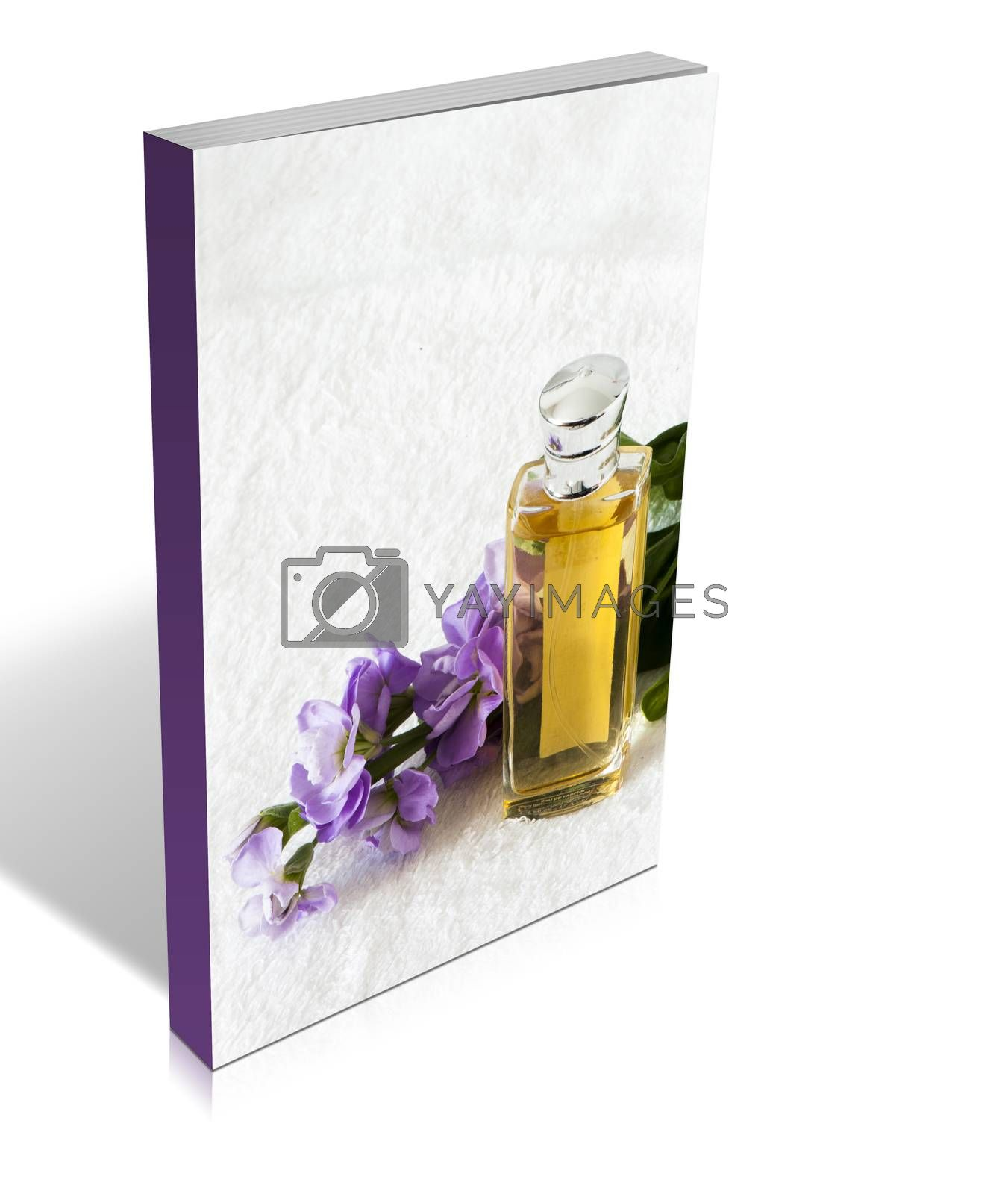 Royalty free image of book of a perfume flask  by carla720