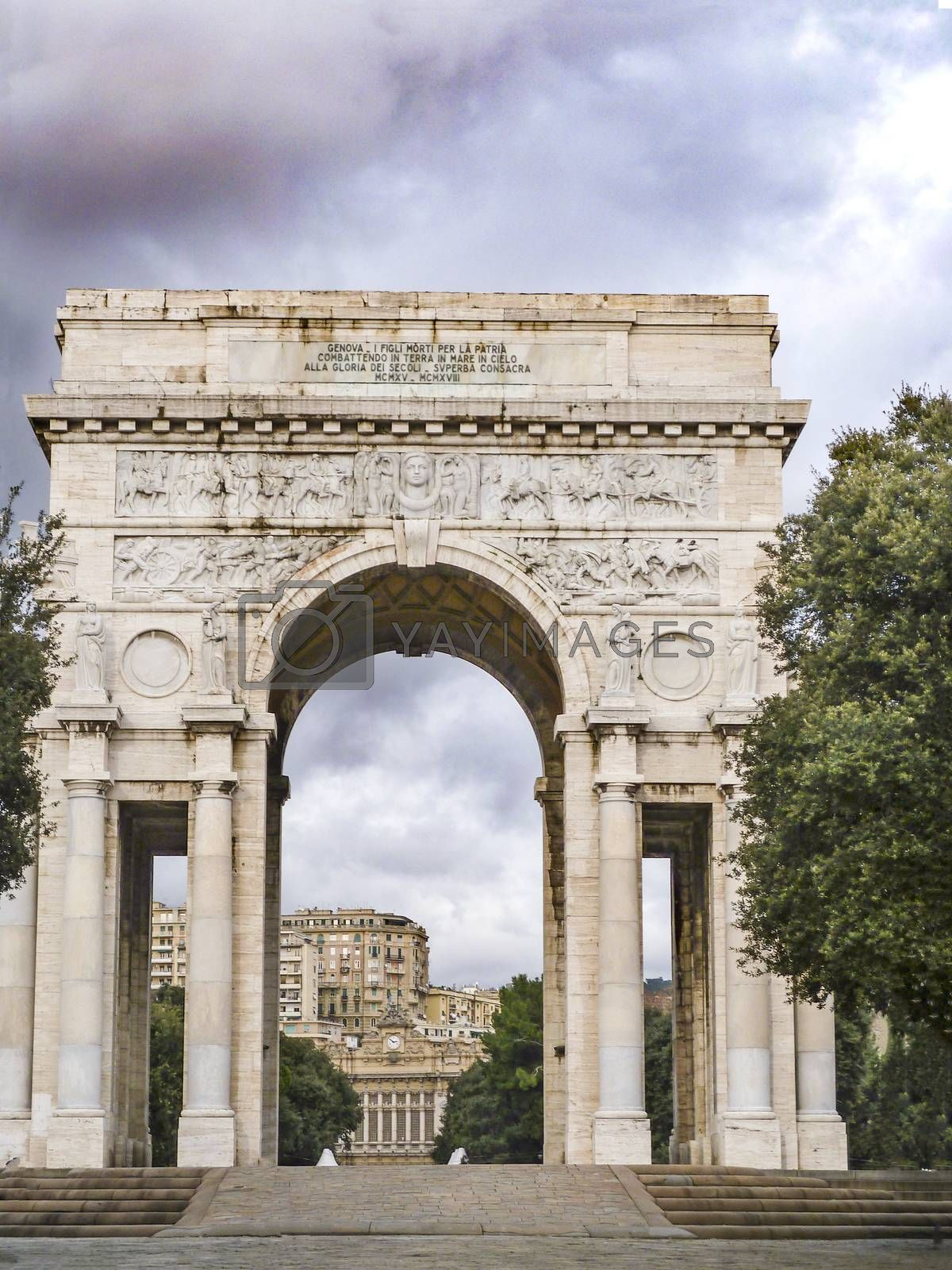 Arc of victory at Genova by carla720