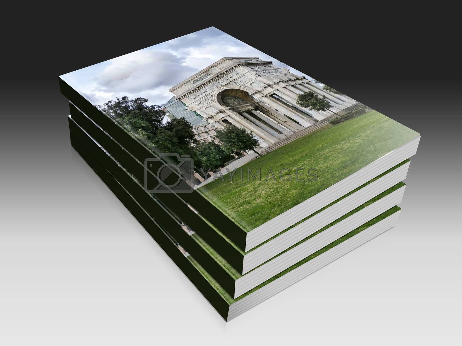 Royalty free image of  book illustration of the triumphal arch at Genova by carla720
