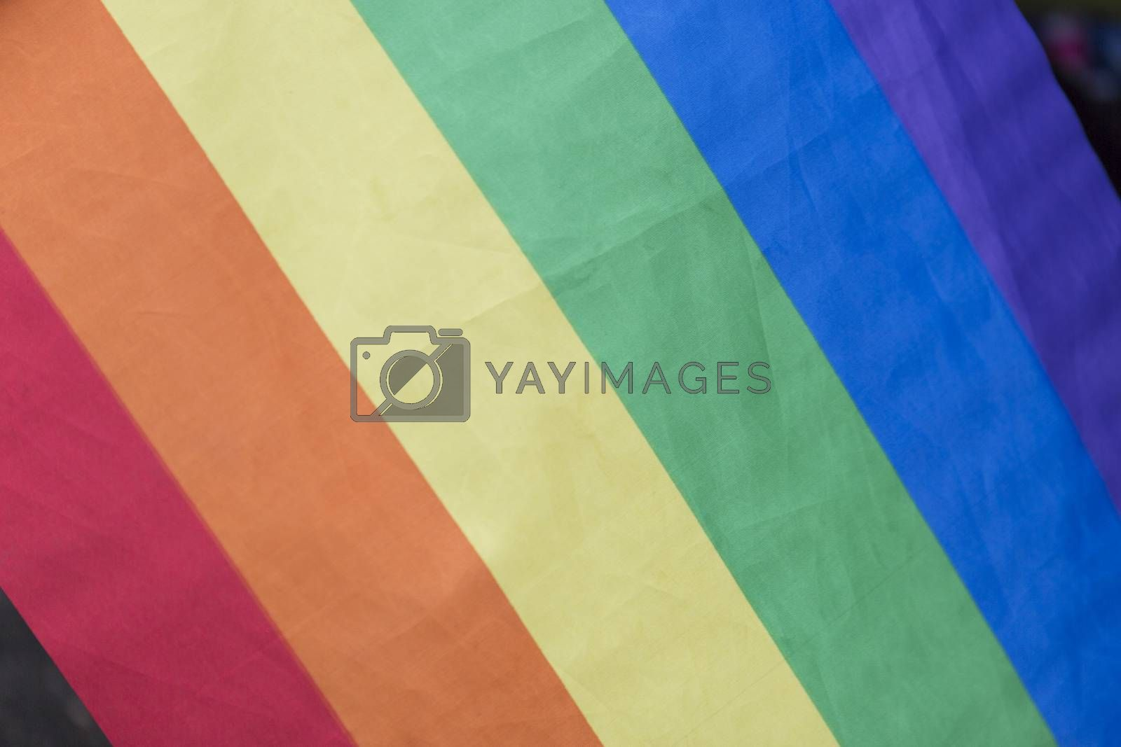 Rainbow Flag close up.