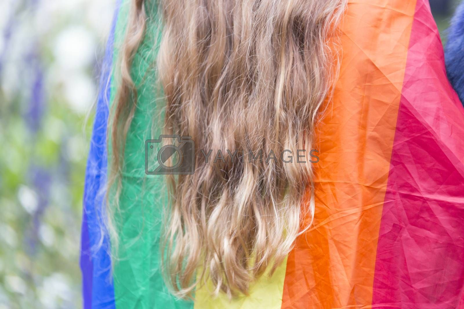 The  Rainbow Flag with long hair.