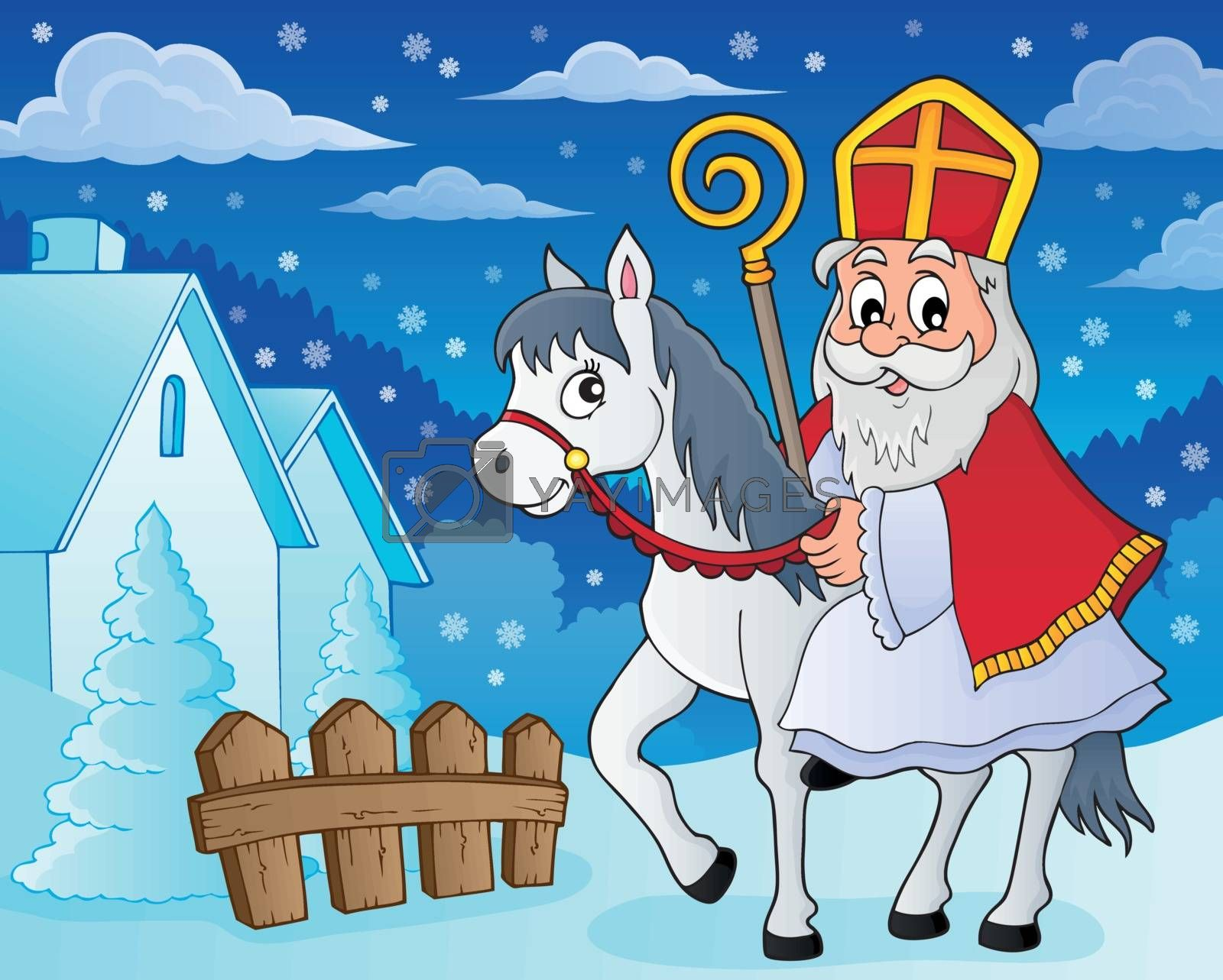 Sinterklaas on horse theme image 5 by clairev