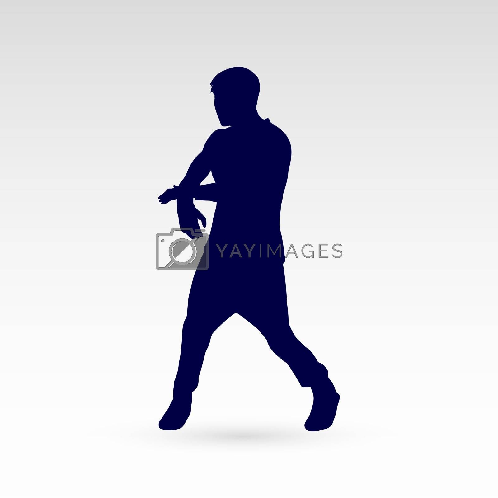 Modern Dancer Silhouette of a Man Dancer Hip Hop Choreography