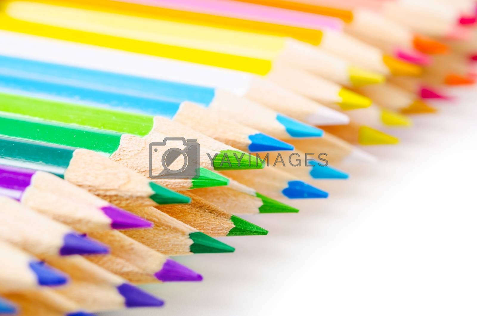 many different colored pencils. by PENCHAN