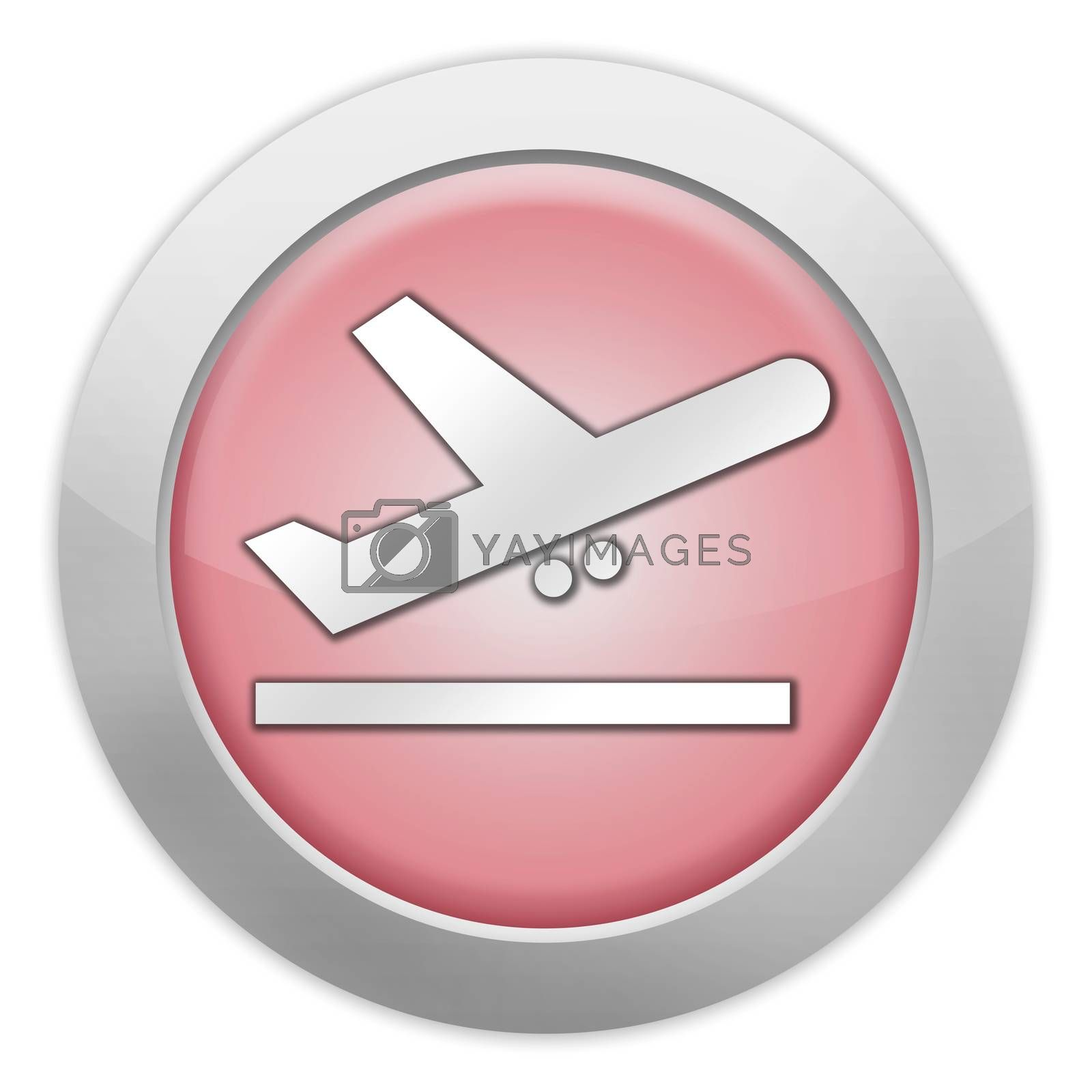 Icon, Button, Pictogram Airport Departures by mindscanner