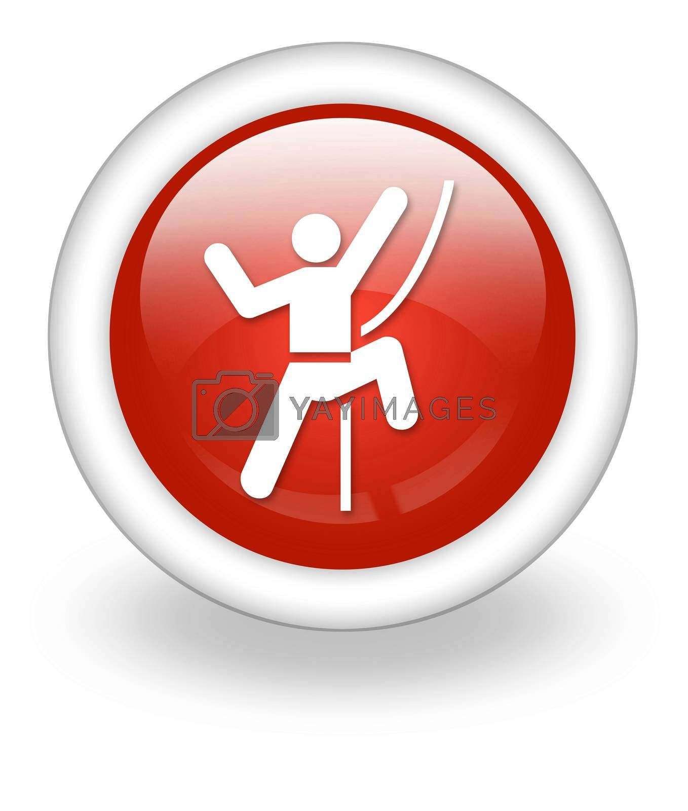 Icon, Button, Pictogram Rock Climbing by mindscanner