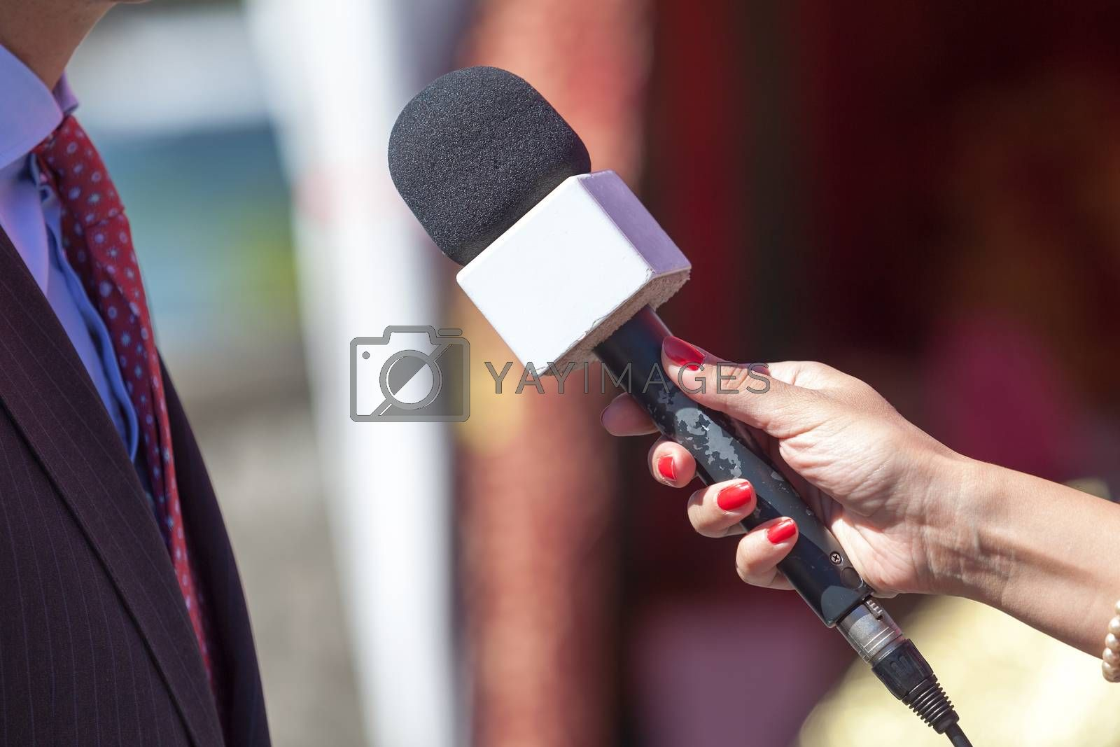 Press interview with business person or politician