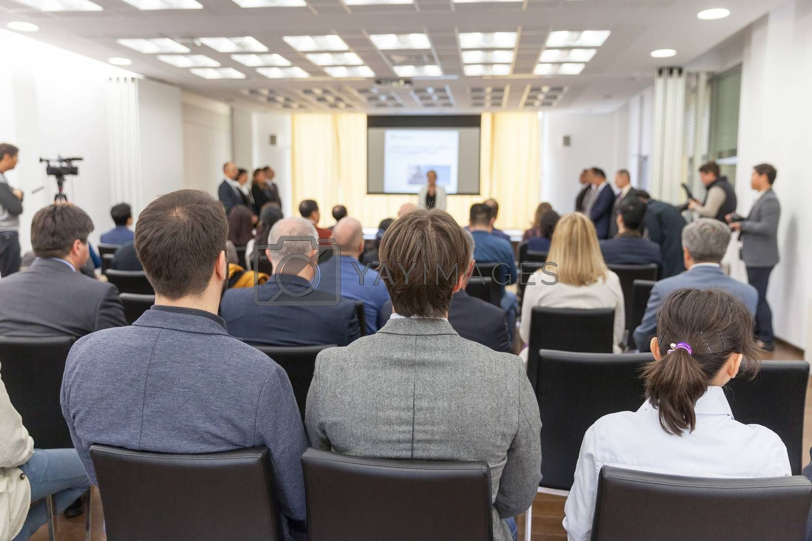 Participants at the professional or business conference