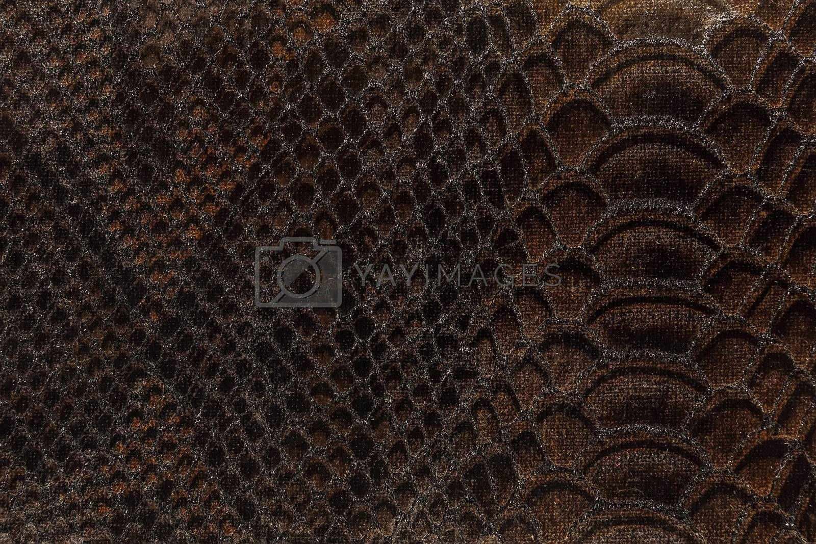 fabric texture brown color , still life photography, Studio