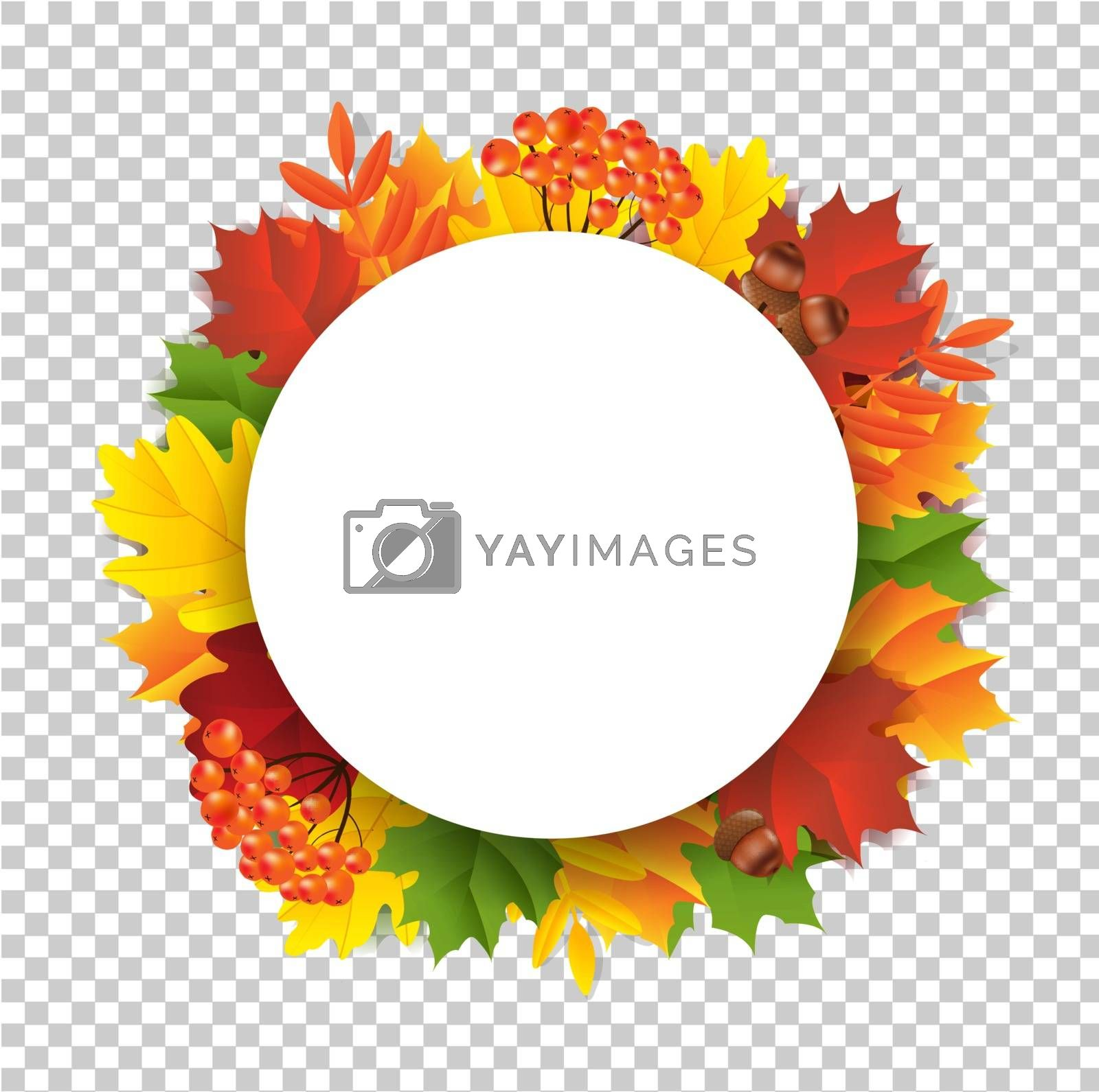 Autumn Banner Gradient Mesh, Vector Illustration