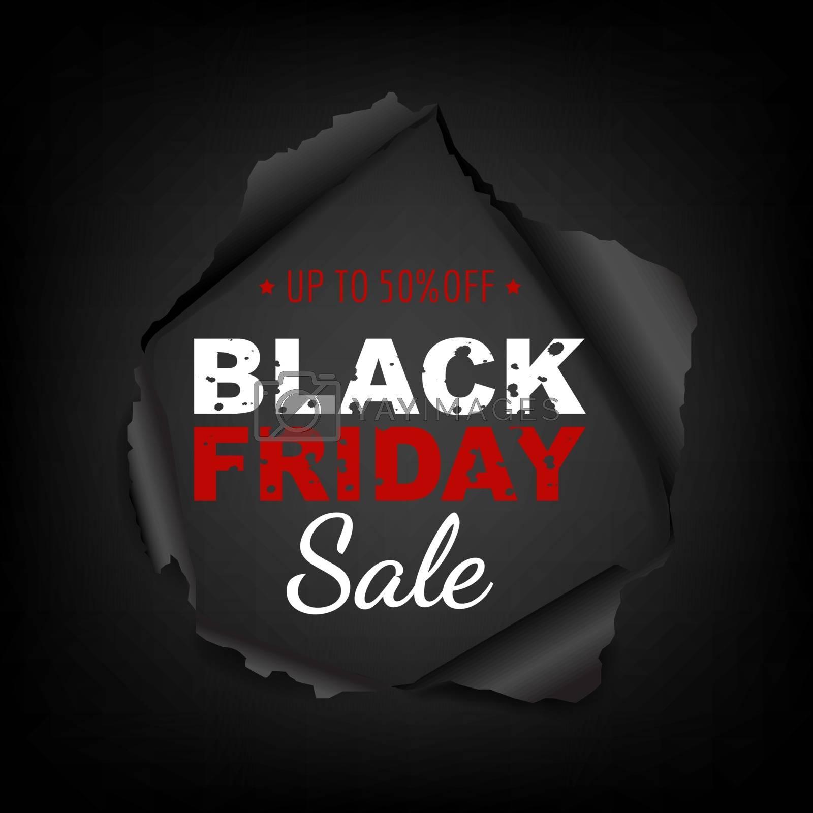 Black Friday Poster Gradient Mesh, Vector Illustration