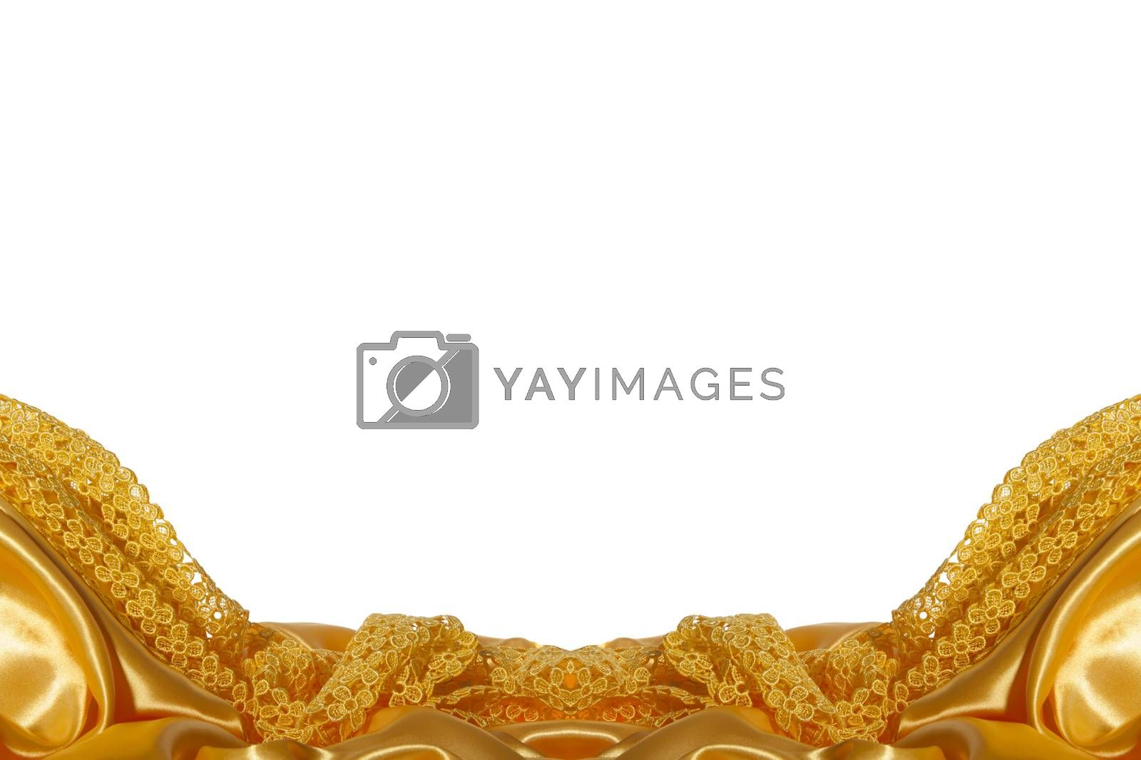 a elegant background with a yellow fabric
