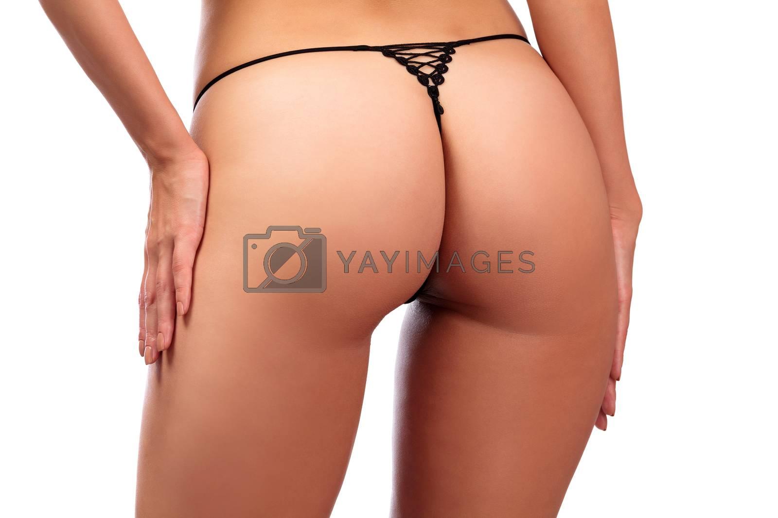 Perfect female bum, isolated on white background