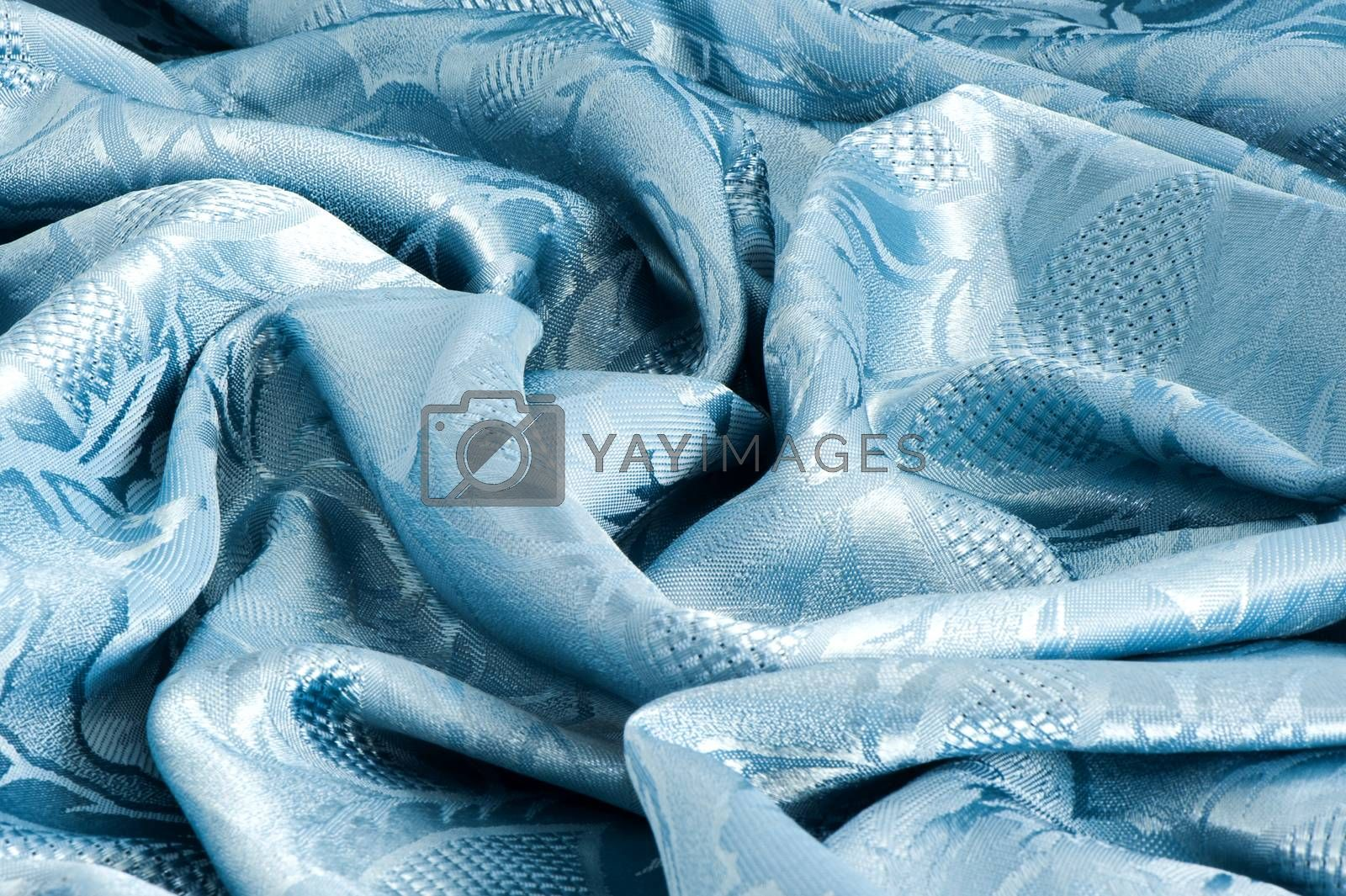 a elegant background with a blue fabric