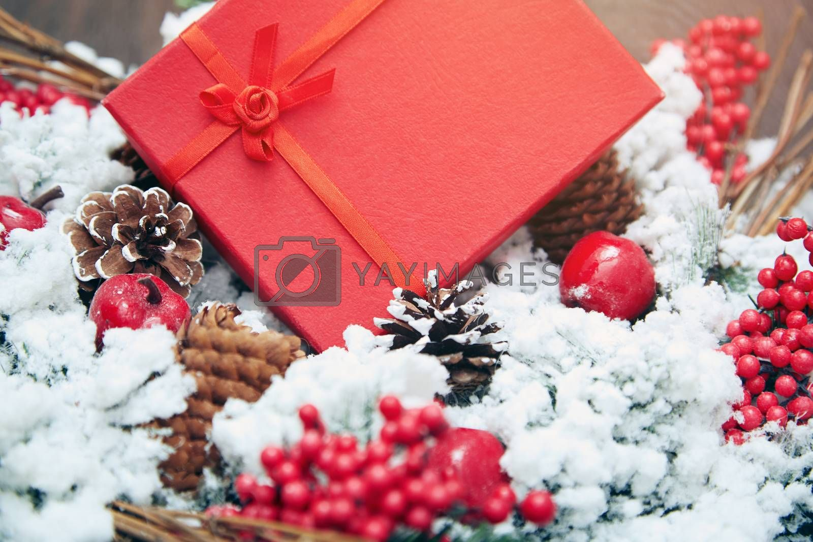 Christmas gift in a red box by Novic