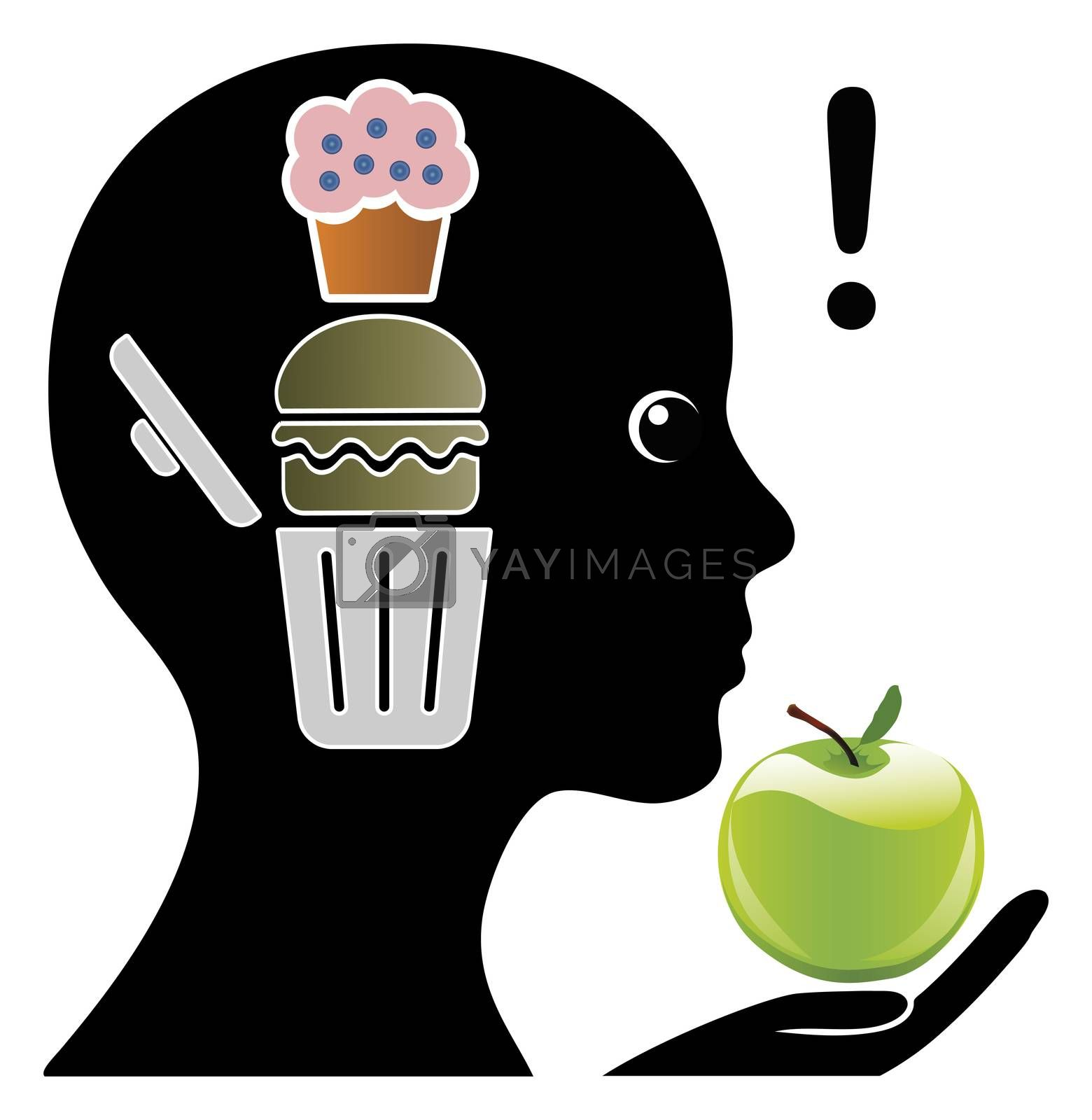 Mental training in order to limit junk food