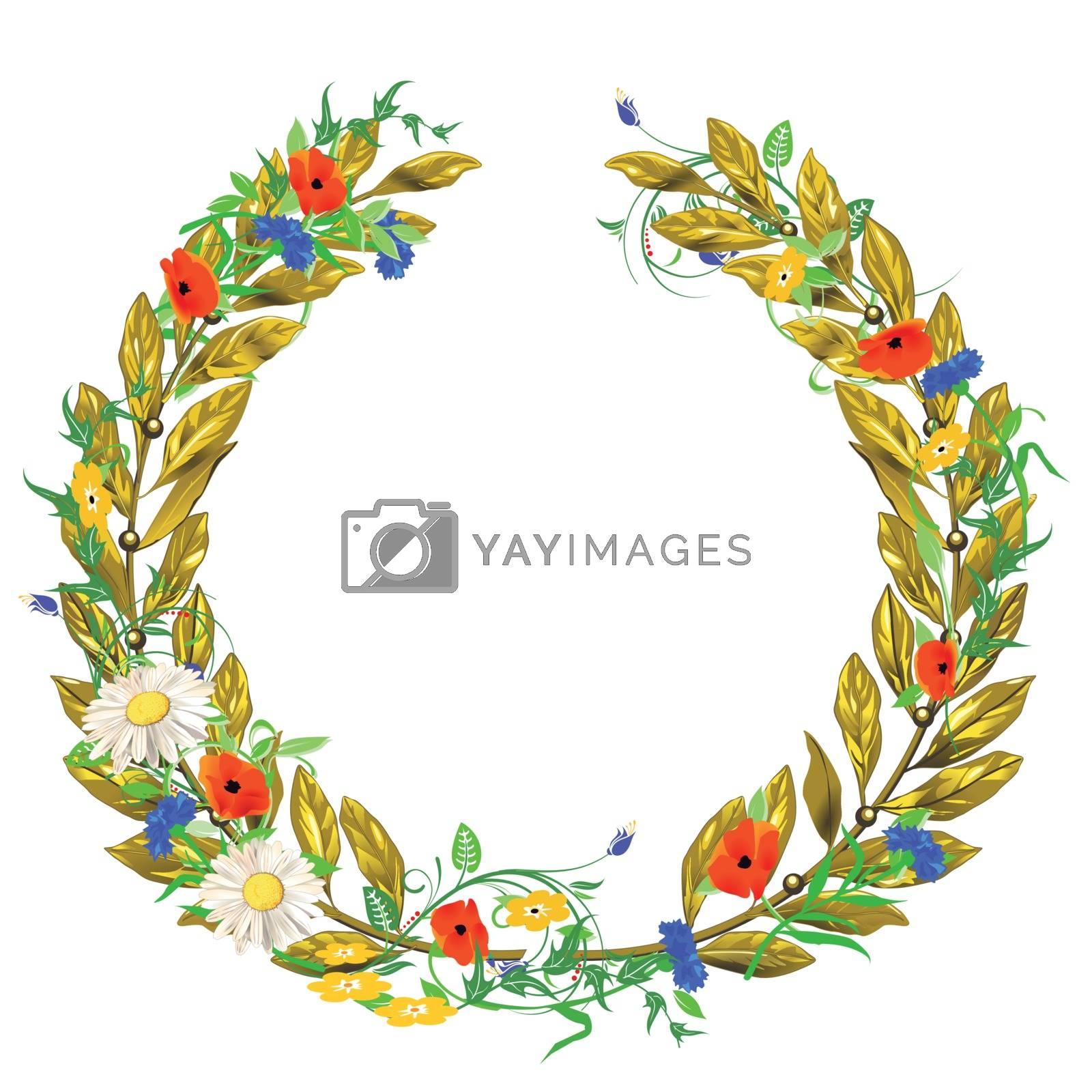 laurel wreath isolated on white