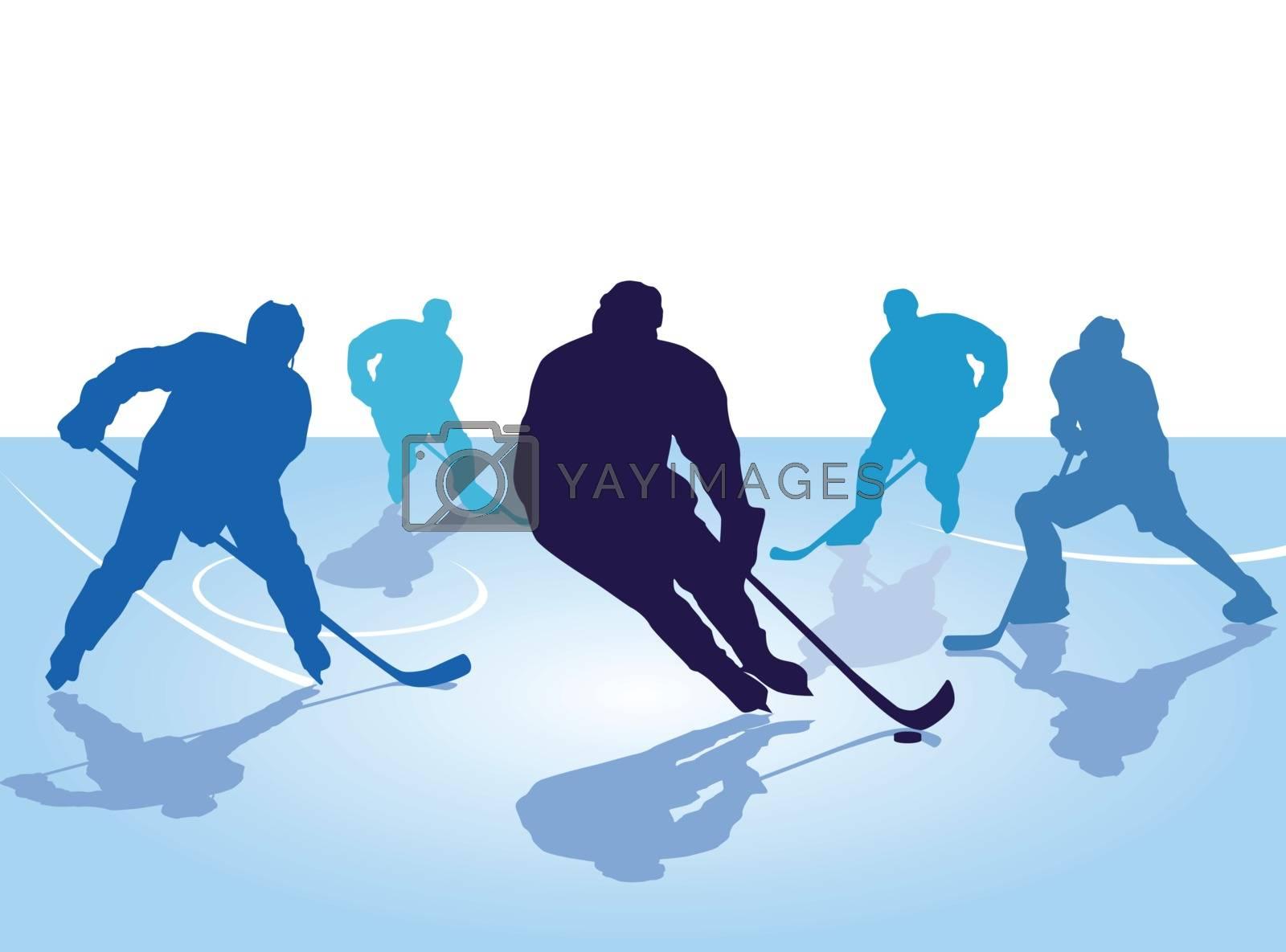 hockey player, skating with hockey
