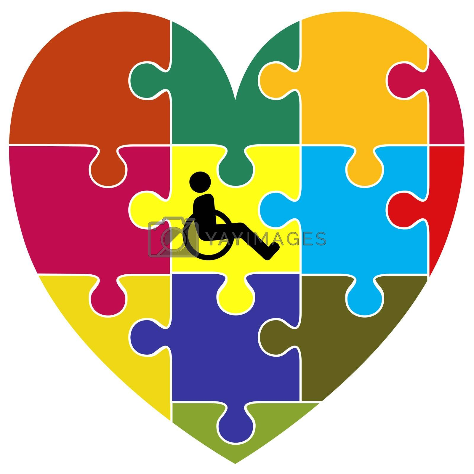 Symbol for the successful integration of handicapped people into community living