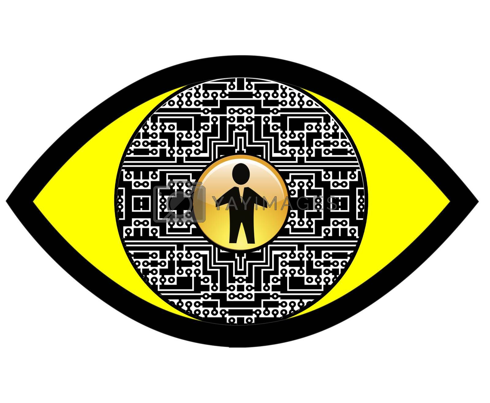 Sign and symbol for Full Body Scanner or overall security concept