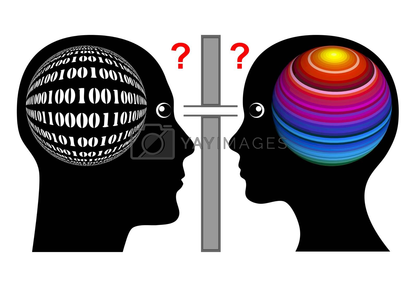 Man and woman seam to have different brain hemispheres which is leading to misunderstanding