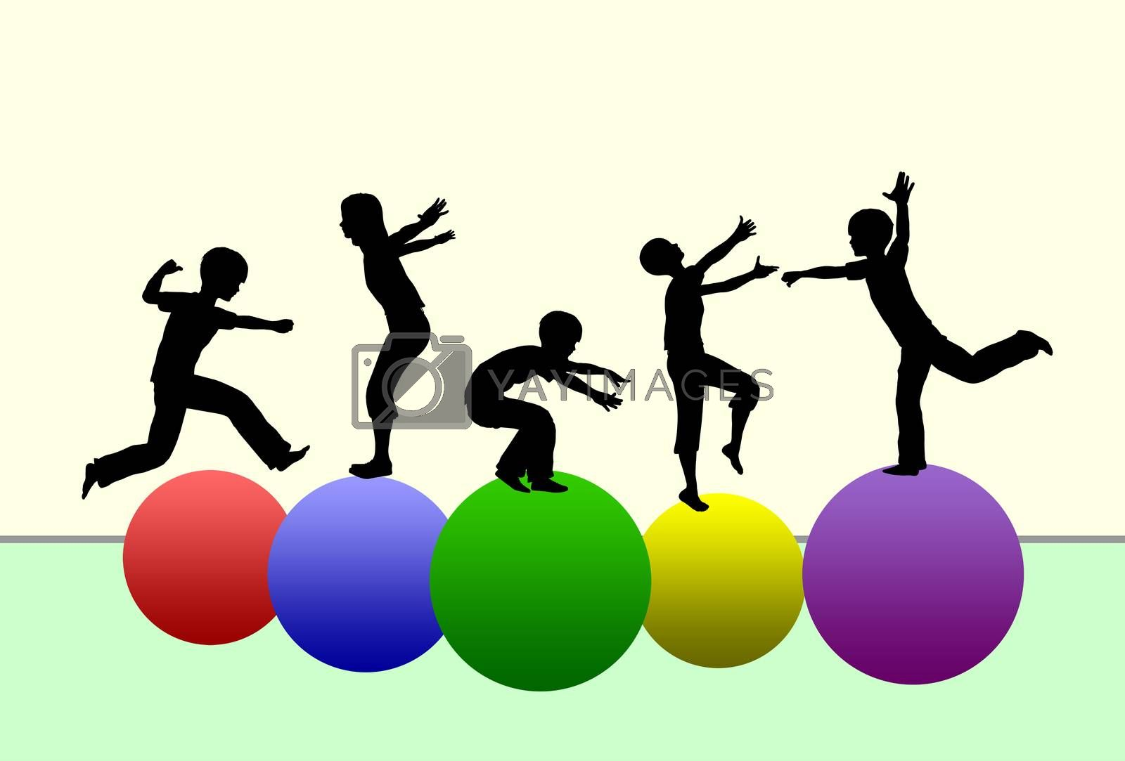 Concept of promoting physical development in early childhood by gymnastics and sports