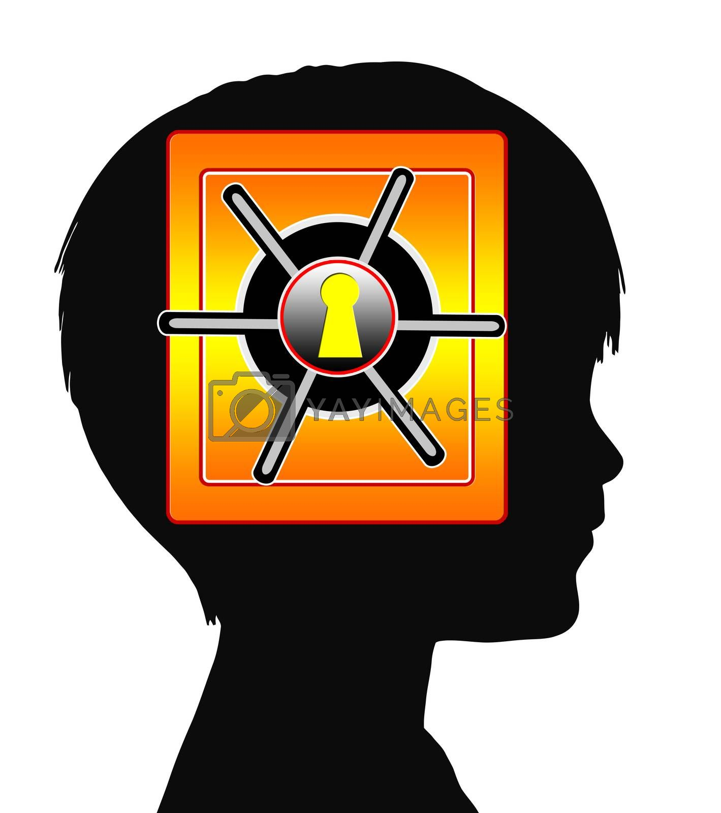 Concept sign of traumatic and mental disorder in early childhood