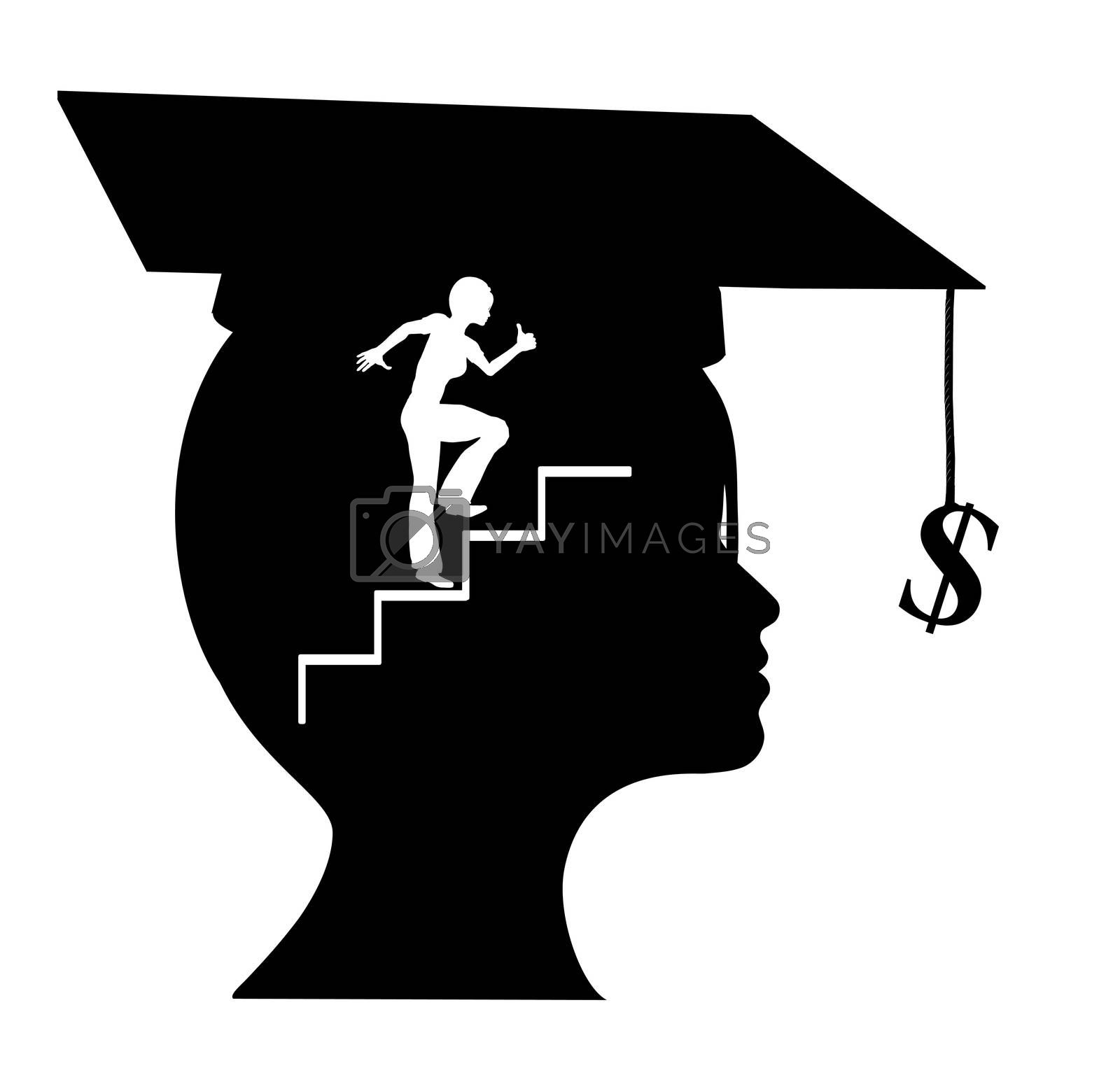 Young graduate with clear conception of her career objectives and occupational expectation
