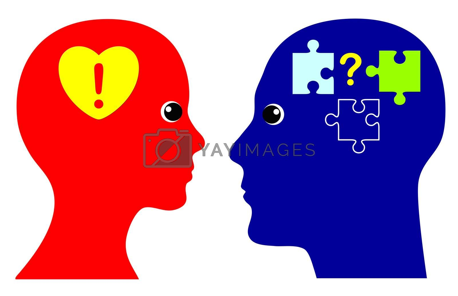 Concept of emotional and rational intelligence as successful strategy in personal life and in business