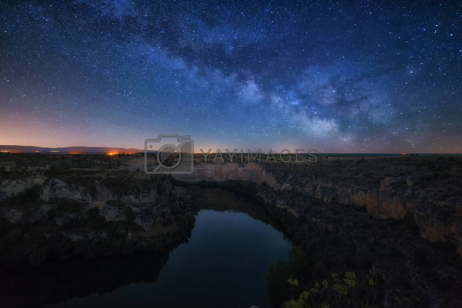 Rising Milky Way over Duraton River